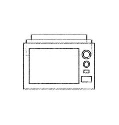 microwave appliance electric line vector image