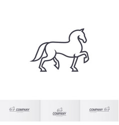 Stylized white horse for mascot logo template vector