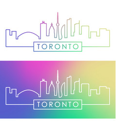 Toronto skyline colorful linear style editable vector