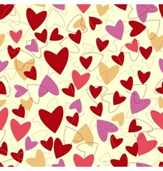 seamless pattern from hearts to Valentines day vector image