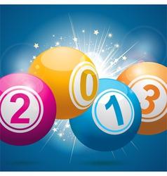 2013 bingo lottery balls vector image vector image