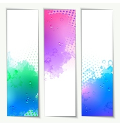 Abstract Watercolor Headers vector image