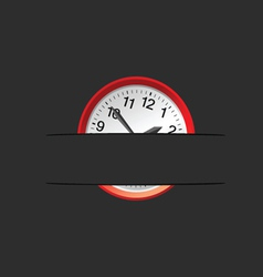Clock in the pocket vector