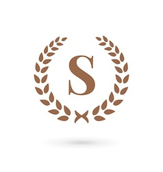 Letter s laurel wreath logo icon design template vector