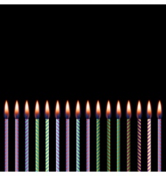 Celebratory candles vector