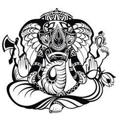 Ganesha elephant vector image