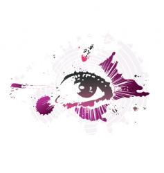 splash eye vector image
