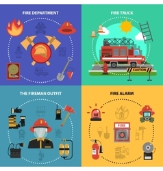 Fire fighting set vector