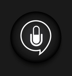 Modern microphone black circle icon vector