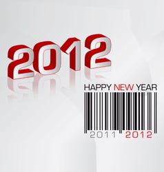 Greeting card 2012 with barcode vector