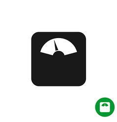 Floor scales black simple icon mechanical scales vector