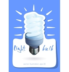 Illuminated light bulb vector