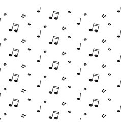 Abstract music pattern background for your design vector image