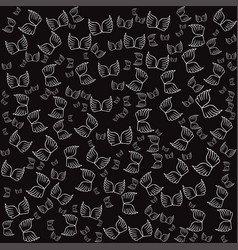 Angel wings black seamless pattern vector