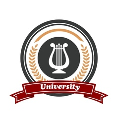 Art University emblem with laurel wreath vector image vector image