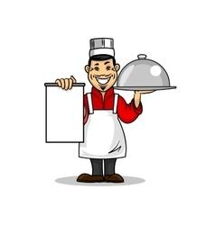 Asian restaurant chef menu card template vector