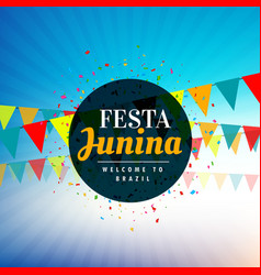 Background for festa junina festival vector