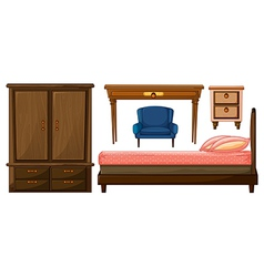 Bedroom furnitures vector image