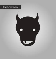 Black and white style icon halloween monster vector