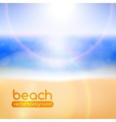 Blurred beach background vector