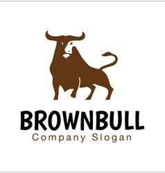Brown Bull Design vector image