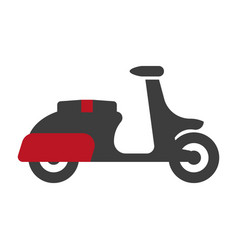 delivery motorbike graphic logo sign silhouette on vector image
