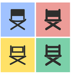 Director chair icon set vector