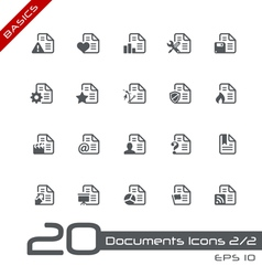 Documents icons basics vector
