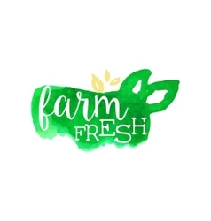 Farm Fresh Products Promo Sign vector image vector image