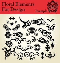 floral elements for design vector image