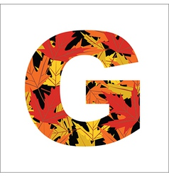 G Letter vector image vector image