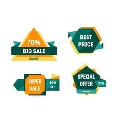 Geometric sale banners set vector