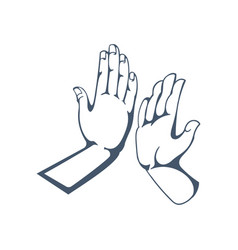 Gestures get five clap in hands friendship vector