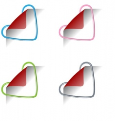heart clips vector image vector image