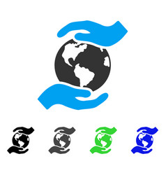 International care flat icon vector