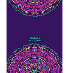 Invitation or card with colorful mandala design vector