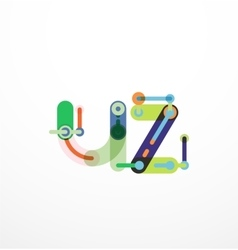 letter concept vector image vector image