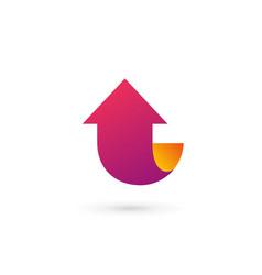 letter l arrow logo icon design template elements vector image