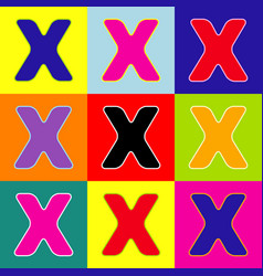 letter x sign design template element pop vector image