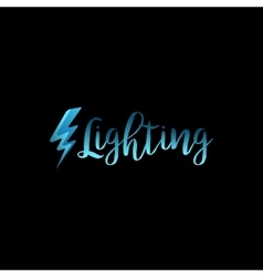 Lightning icon with lettering vector