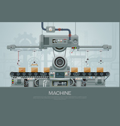 machine vector image vector image