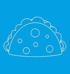 Meat pie icon outline style vector