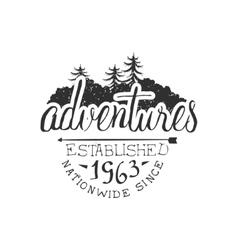 Nationwide adventures vintage emblem vector