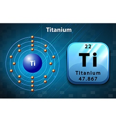 Periodic chart with symbol and number for titanium vector