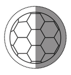 sticker grayscale contour with soccer ball vector image vector image