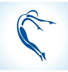 stylized yoga pose vector image