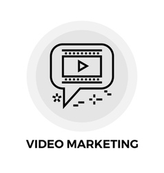 Video Marketing Line Icon vector image