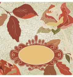 Vintage Floral Rose Card vector image