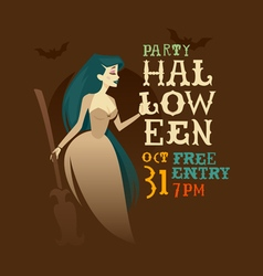 Witch halloween party vector