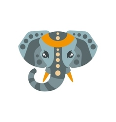 Elephant African Animals Stylized Geometric Head vector image